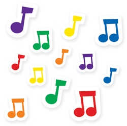 CTP 7162 MUSIC NOTES INCENT. STICKERS