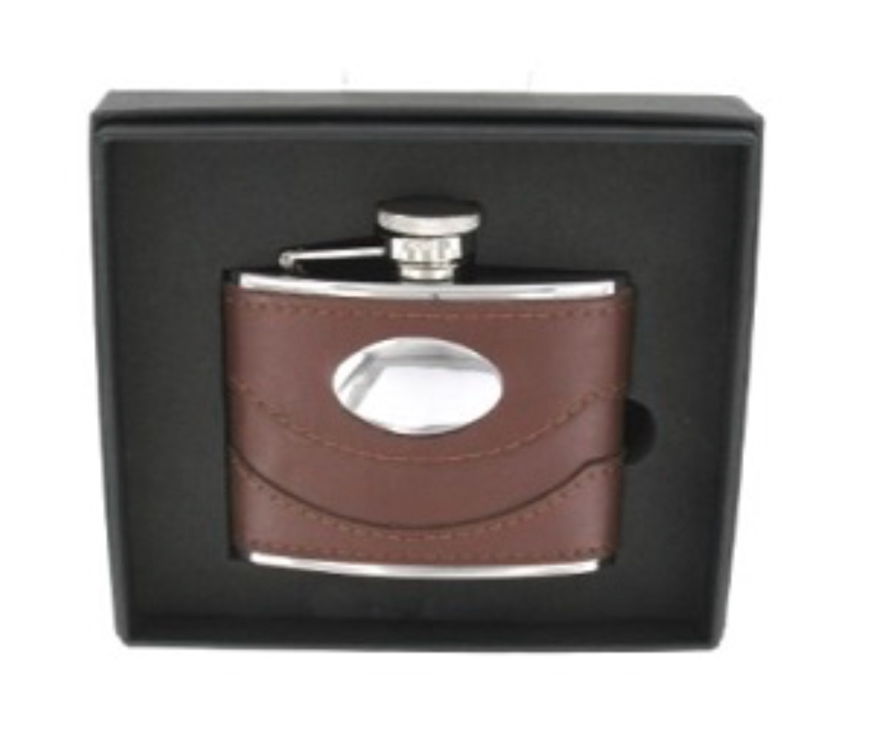 Brown Spanish Leather Hip Flask