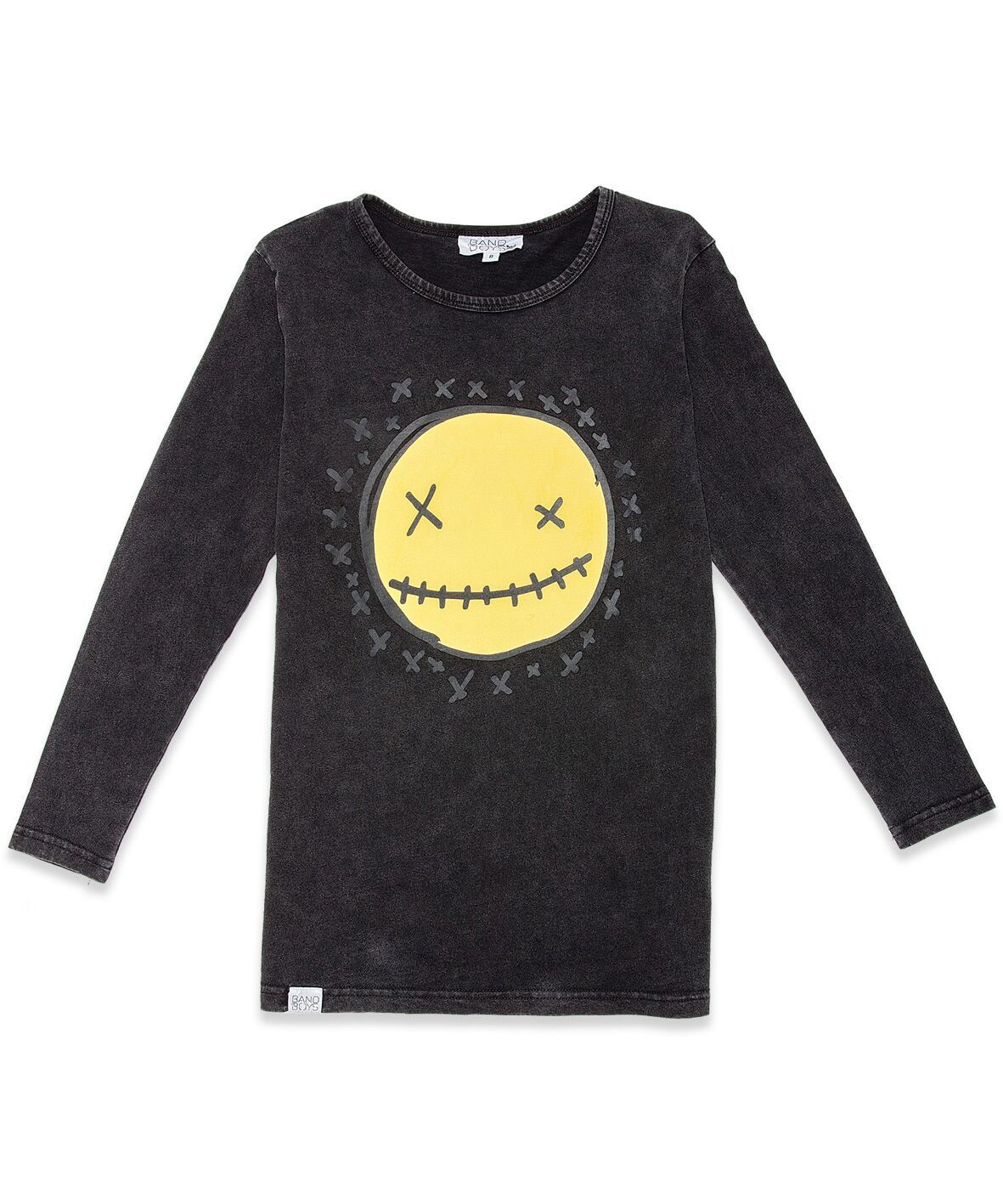 BOB LS Tee Smiley Vintage Black