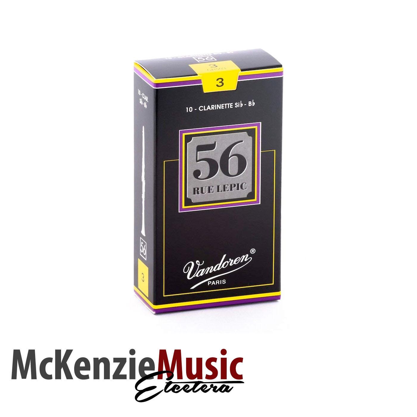 Vandoren 56 Rue Lepic Clarinet Reeds Box 10