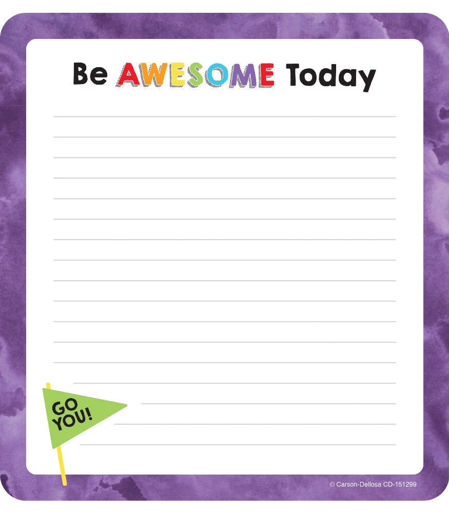 CD 151299 BE AWESOME NOTEPAD
