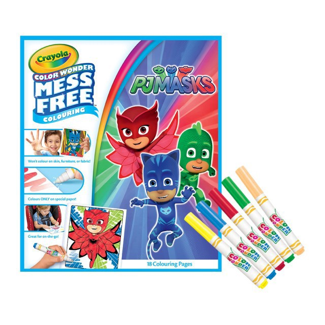 CRAYOLA COLOR WONDER OVERWRAP PJ MASK