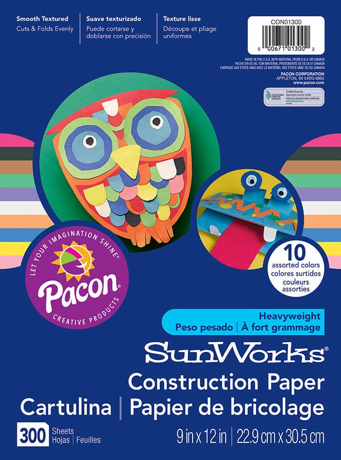S/O PA CON01300 ASSORTED CONSTRUCTION PAPER 300 CT