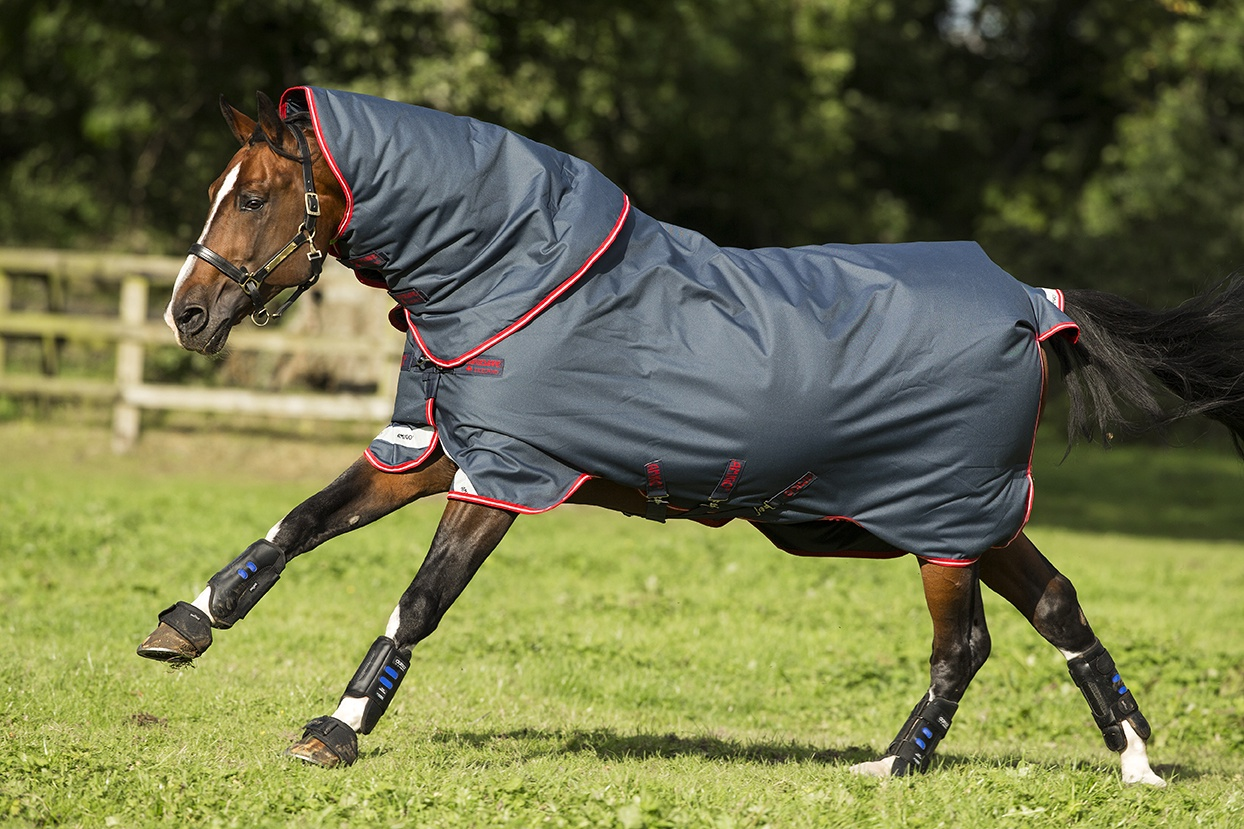 Horseware Amigo Bravo 12 Plus 250g Navy with Red