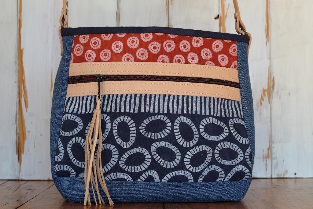 Cross Body Bag - Blue Ochre