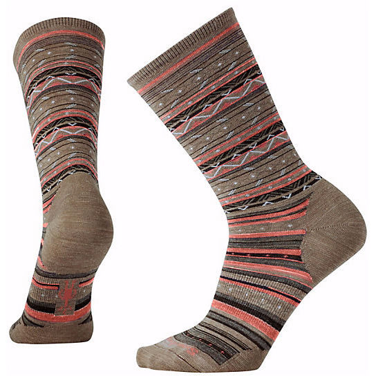 SMARTWOOL - ETHNO GRAPHIC CREW IN FOSSIL HEATHER