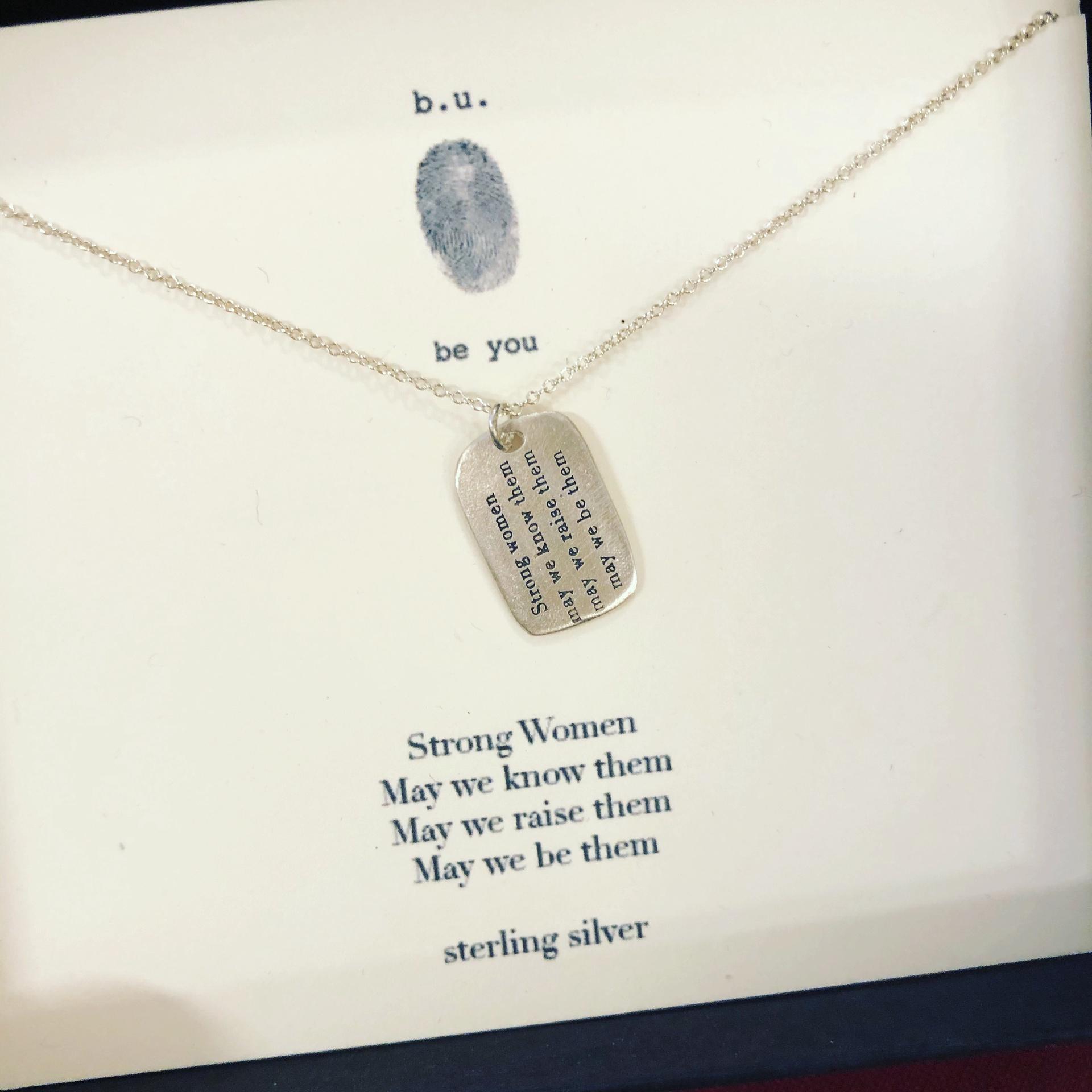 BU- Strong Women Necklace / 18
