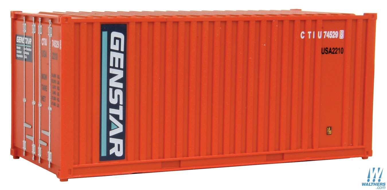 Walthers SceneMaster #949-8003  HO 20' Fully Corrugated Container