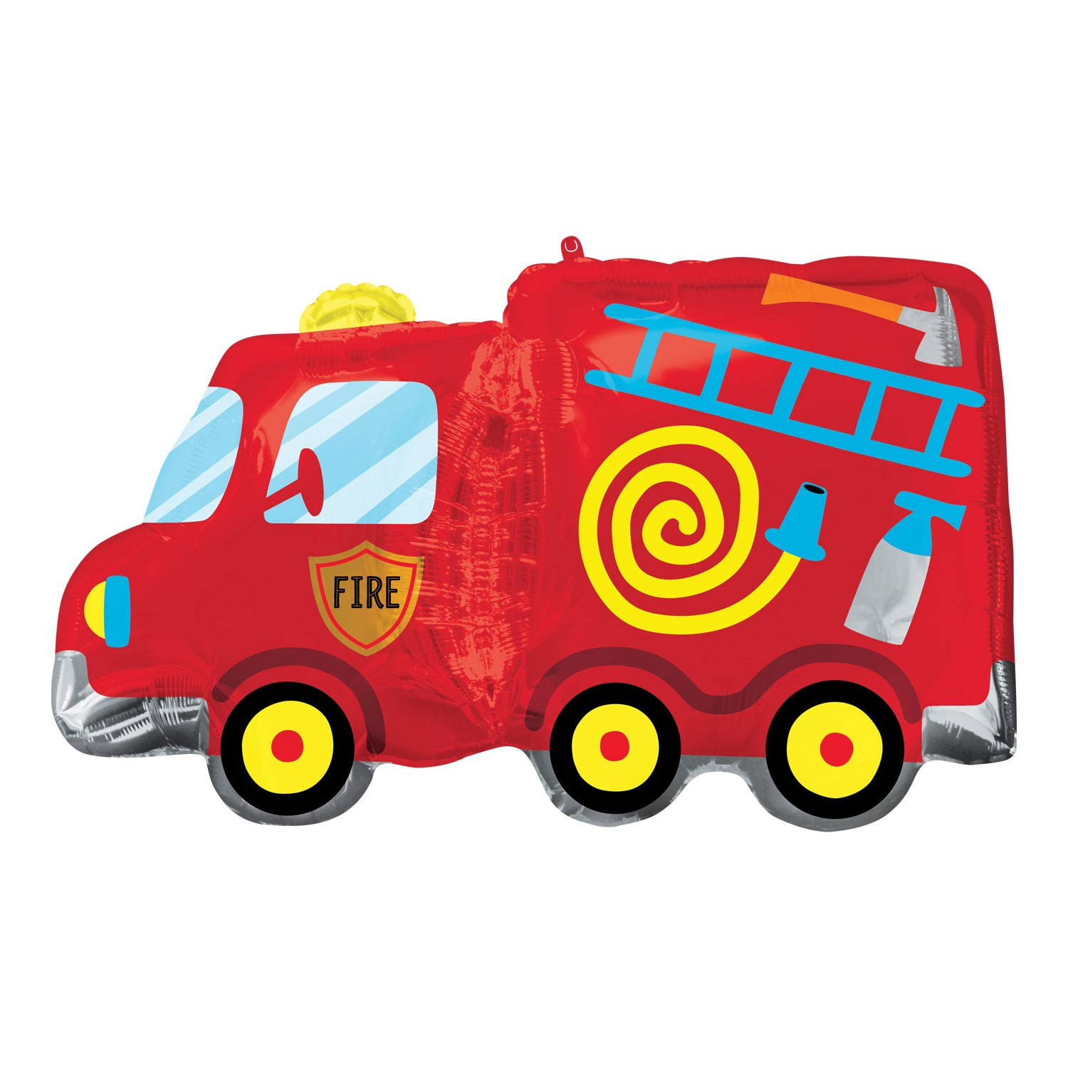 FIRE TRUCK SUPERSHAPE FOIL BALLOON 30 INCHES