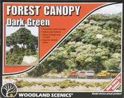 Woodland Scenics #F1662 Forest Canopy Dark Green