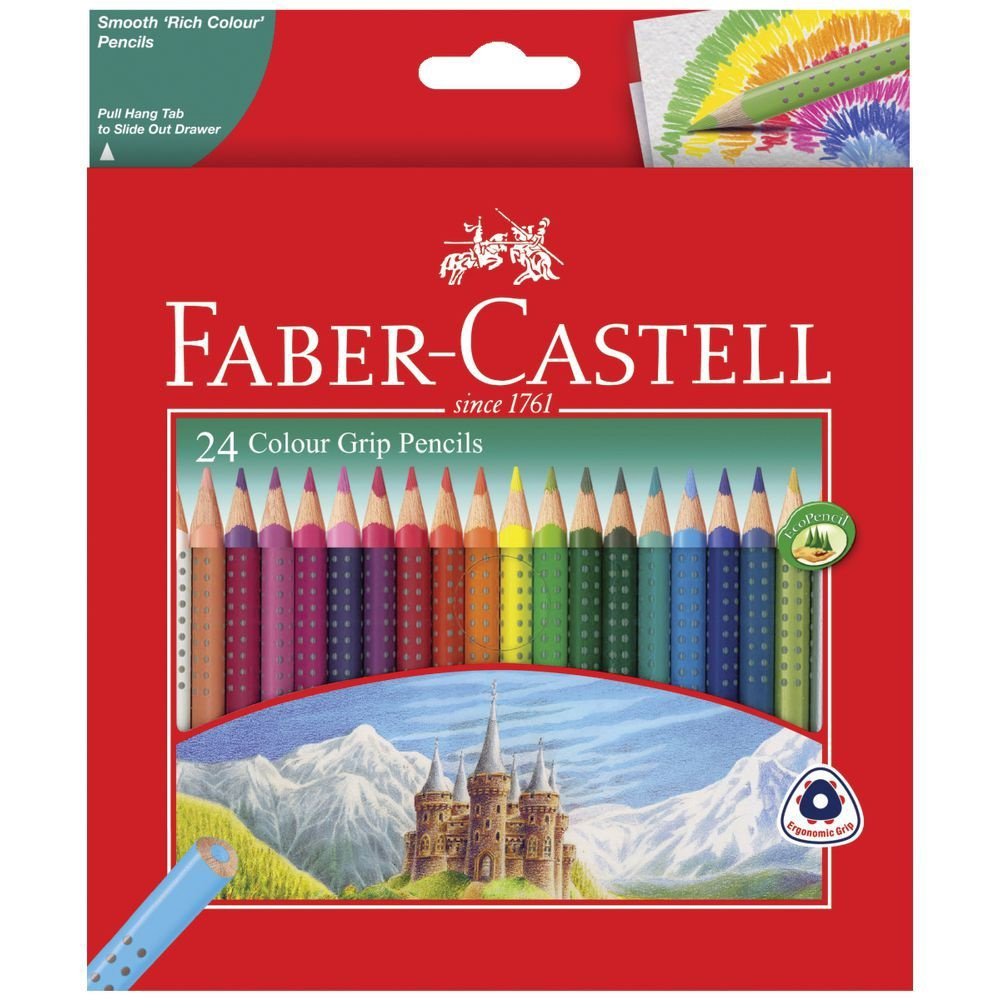 COLOUR GRIP PENCILS 24