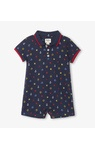 Nautical emblems baby polo romper