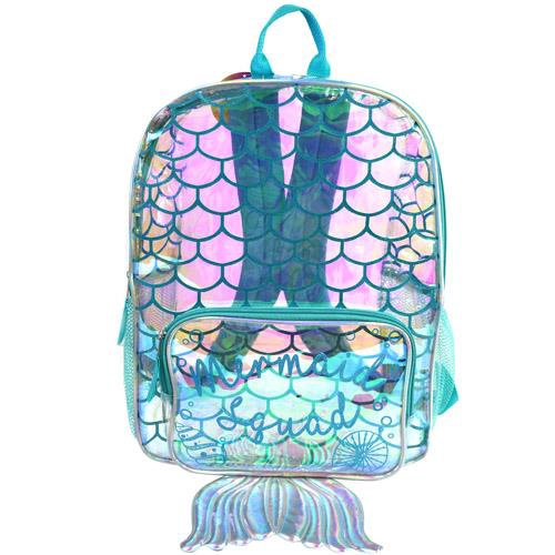 MERMAID TRANSPARENT 16 INCHPVC BACKPACK