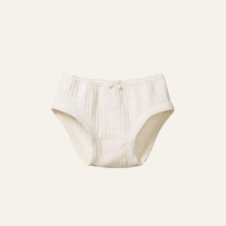 GIRLS UNDERPANTS POINTELLE - NATURAL