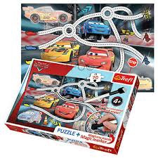CAR PUZZLE + STICKERS 70 PCS