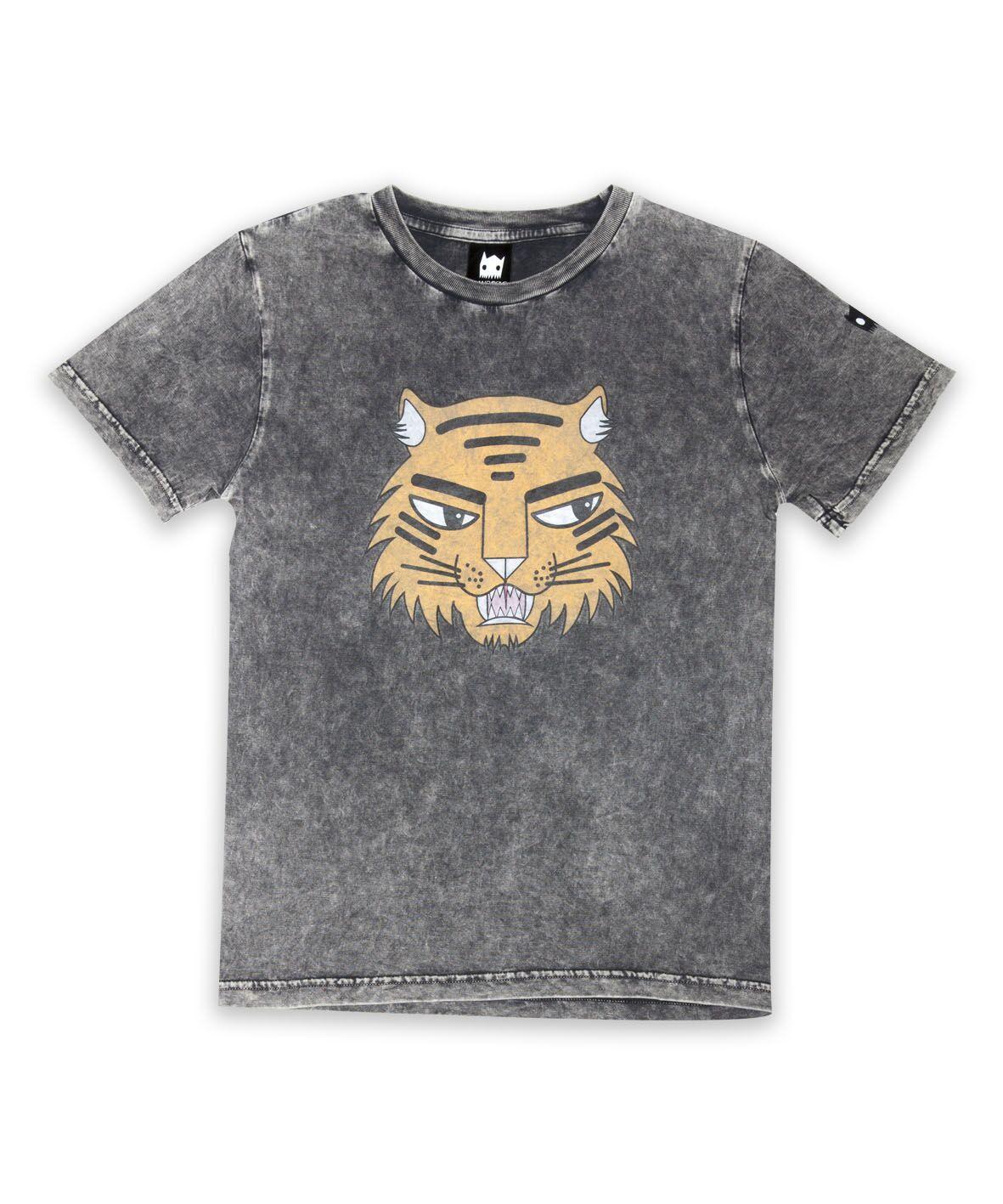 BOB Tiger Badges Straight Hem Tee
