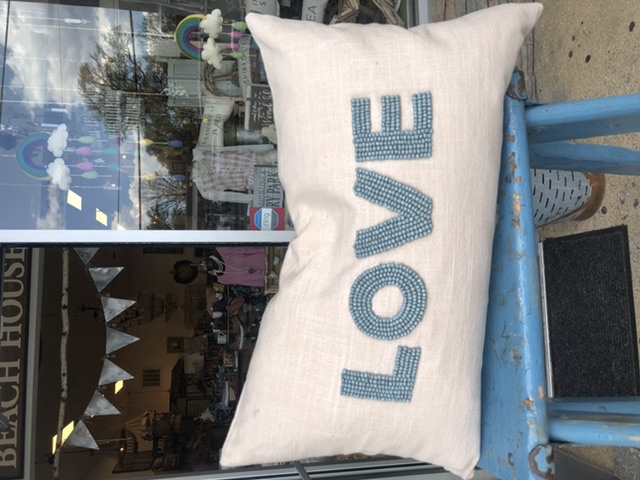 In-Love Your Pillow, Blue 21x12