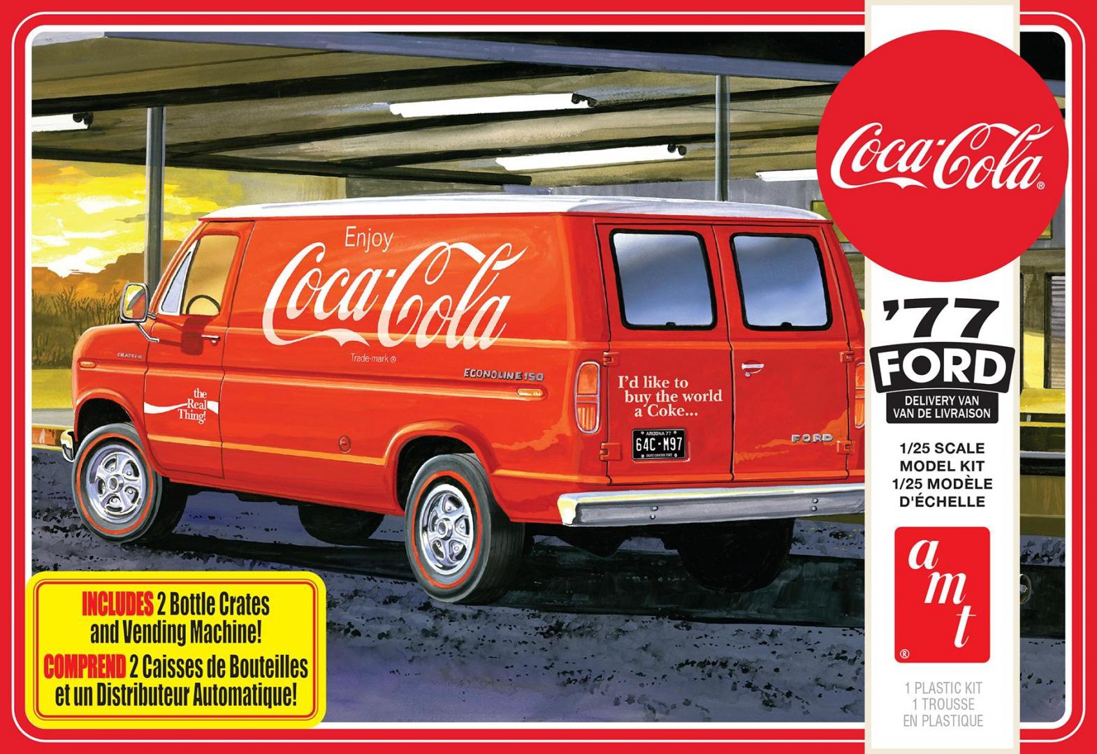AMT# 1173  1/25 1977 Ford Delivery Van  (coke)