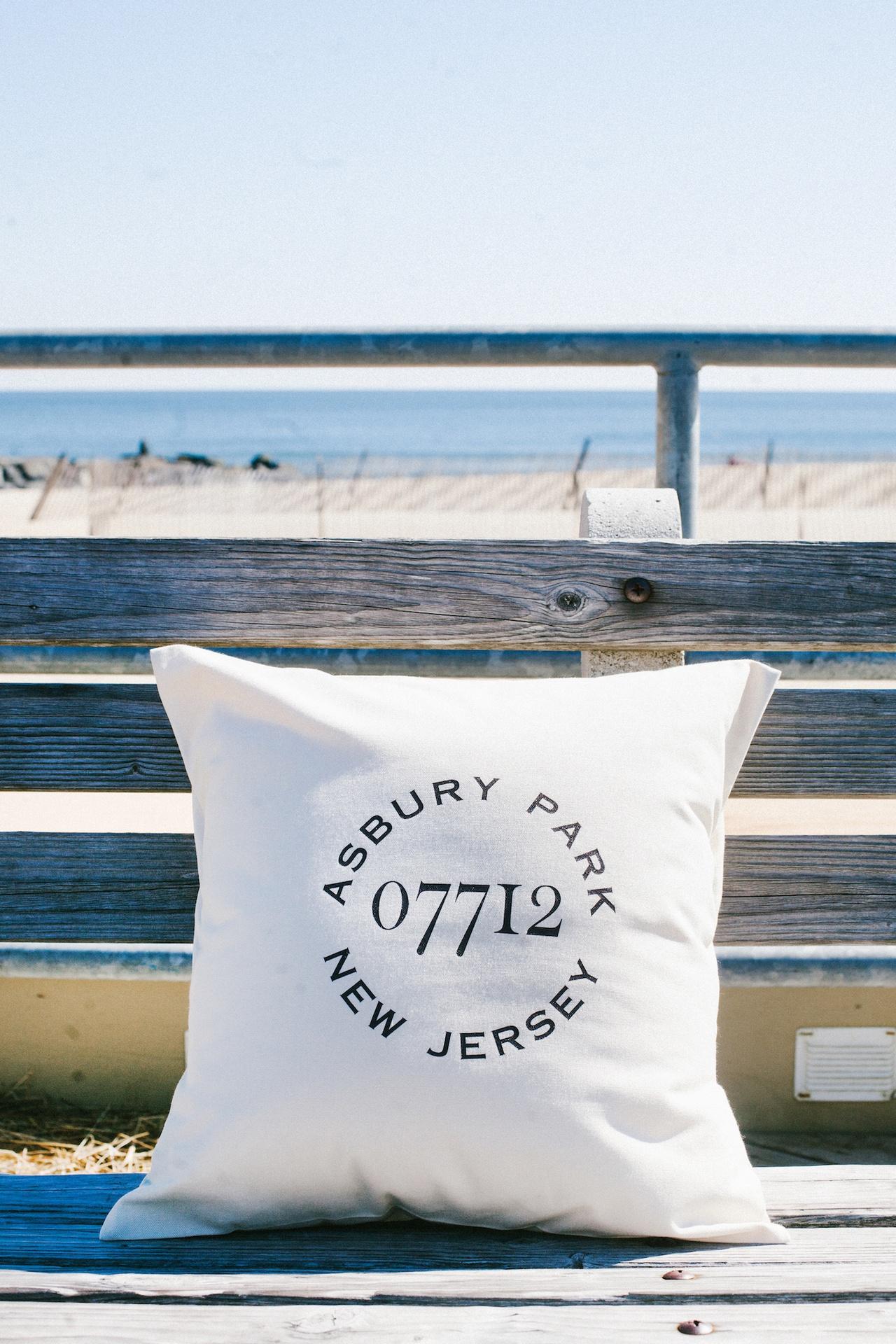 Asbury Park Zip Code Pillow