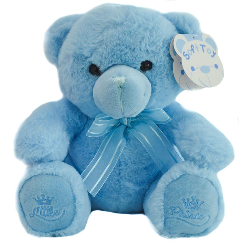 18cm Blue Teddy Bear w/Little Prince Emblem