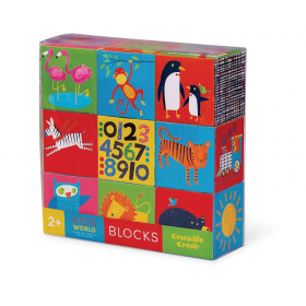KID'S WORLD BLOCKS 9 PCS