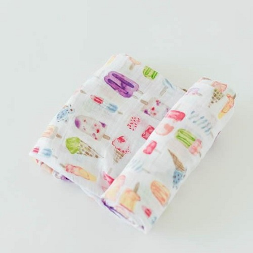 Cotton Muslin Swaddle | Brain Freeze