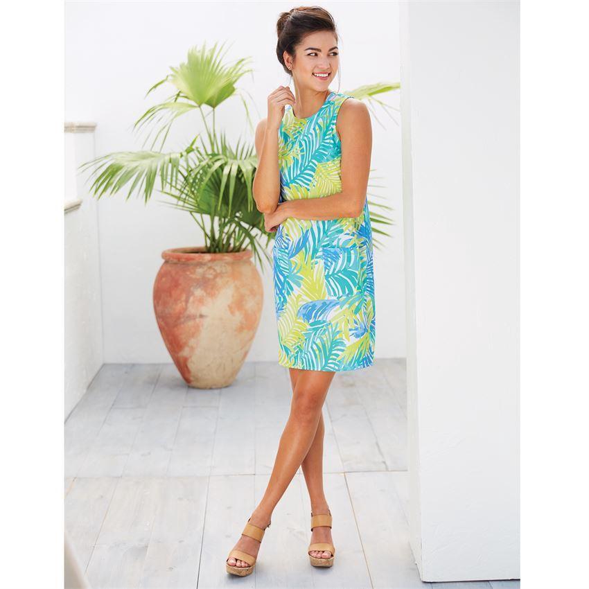 Macy Shift Dress Green Palm