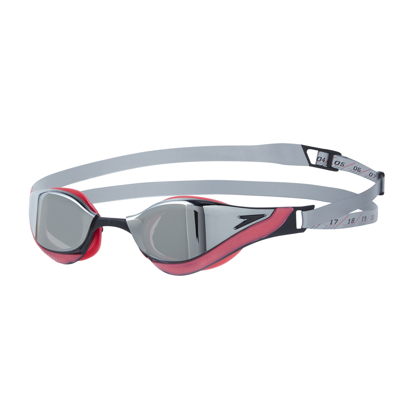 Fastskin Pure Focus Mirror Goggles Silver/Phoenix Red
