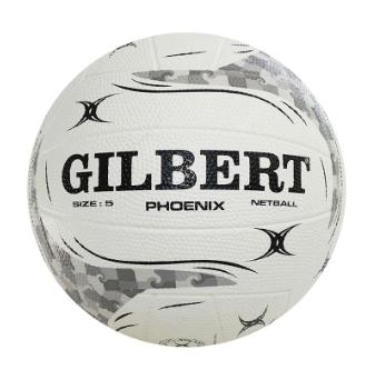 Gilbert Phoenix Netball Size 5 White