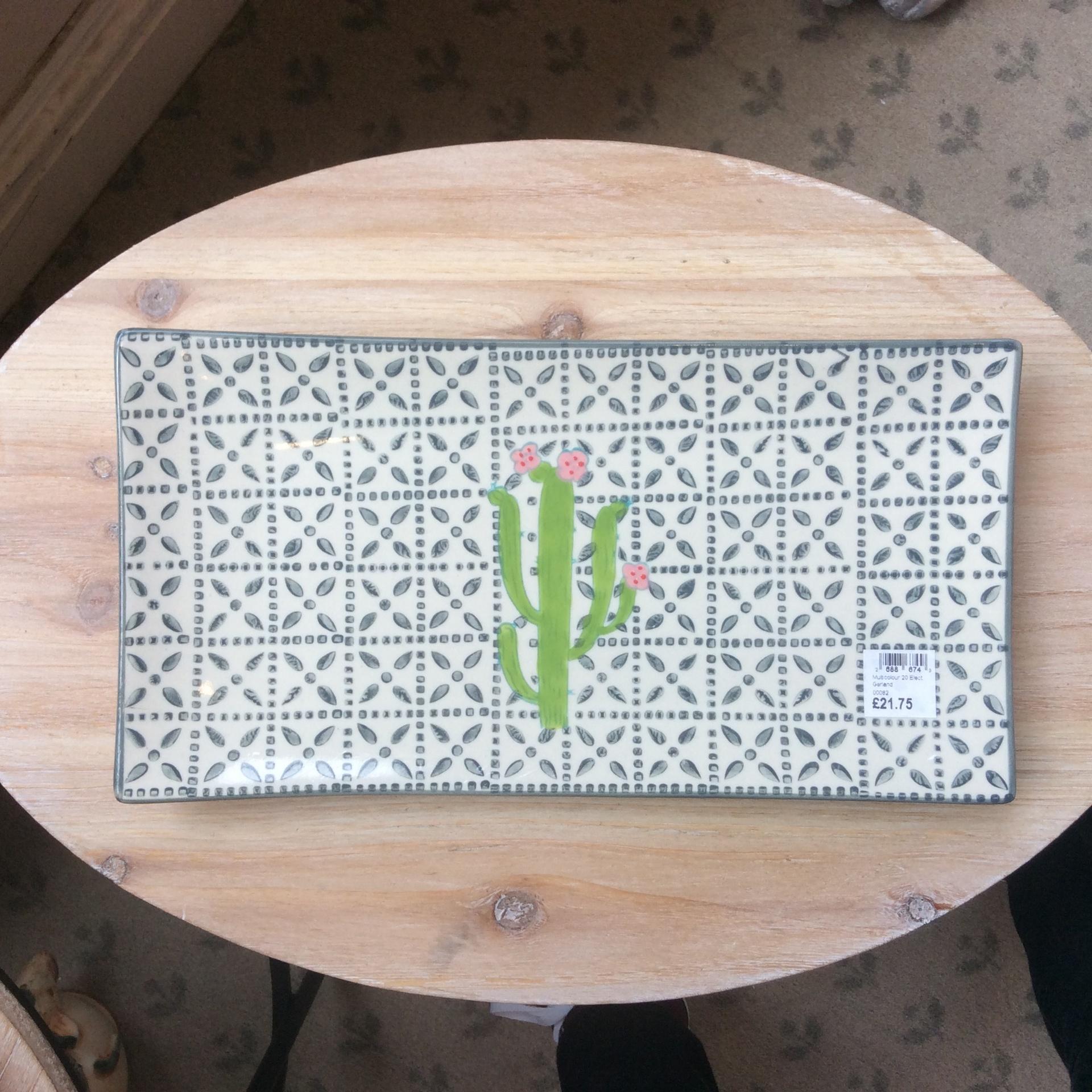 Ceramic Cactus Service Plate