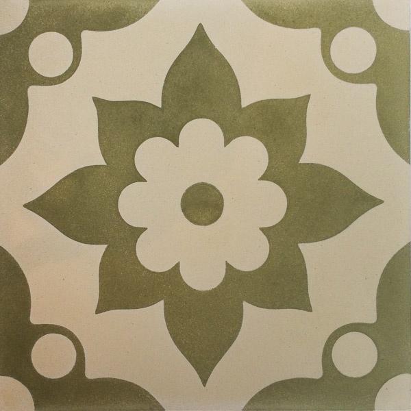 Handmade Tile | Flower in Flower