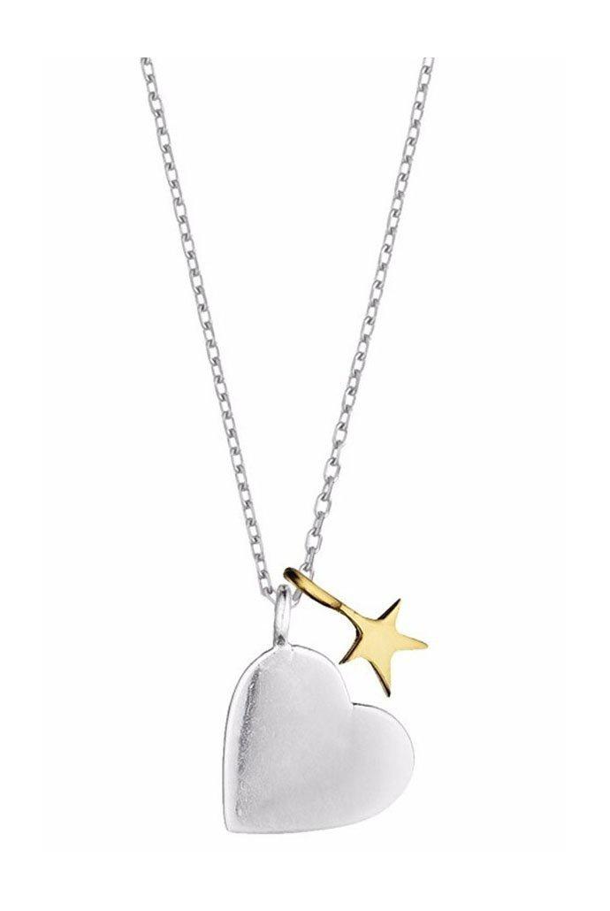 Estella Bartlett Heart Star Necklace
