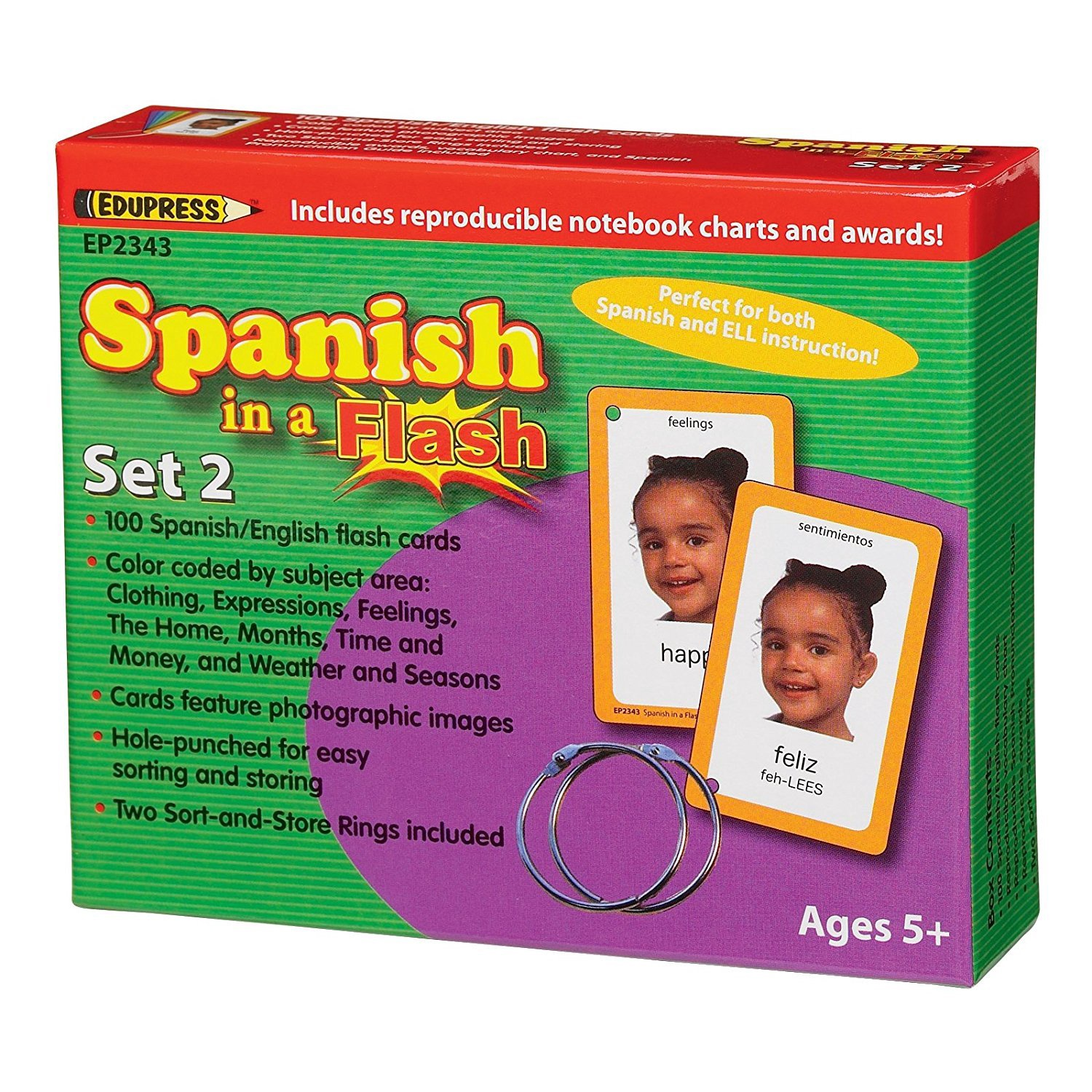X EP 62343 SPANISH IN A FLASH SET 2