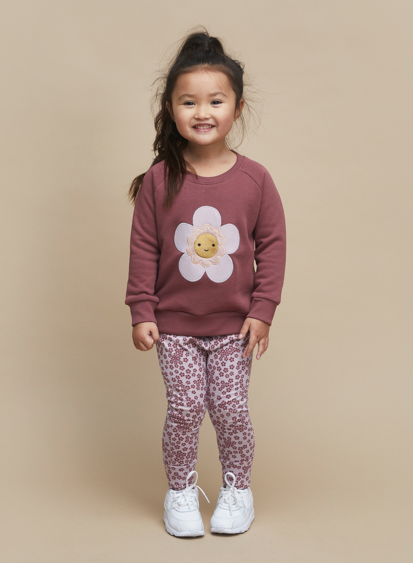 PLUM FLORAL SWEATSHIRT KID