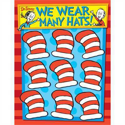 X EU 837236 DR. SEUSS CAT IN THE HAT JOB CHART