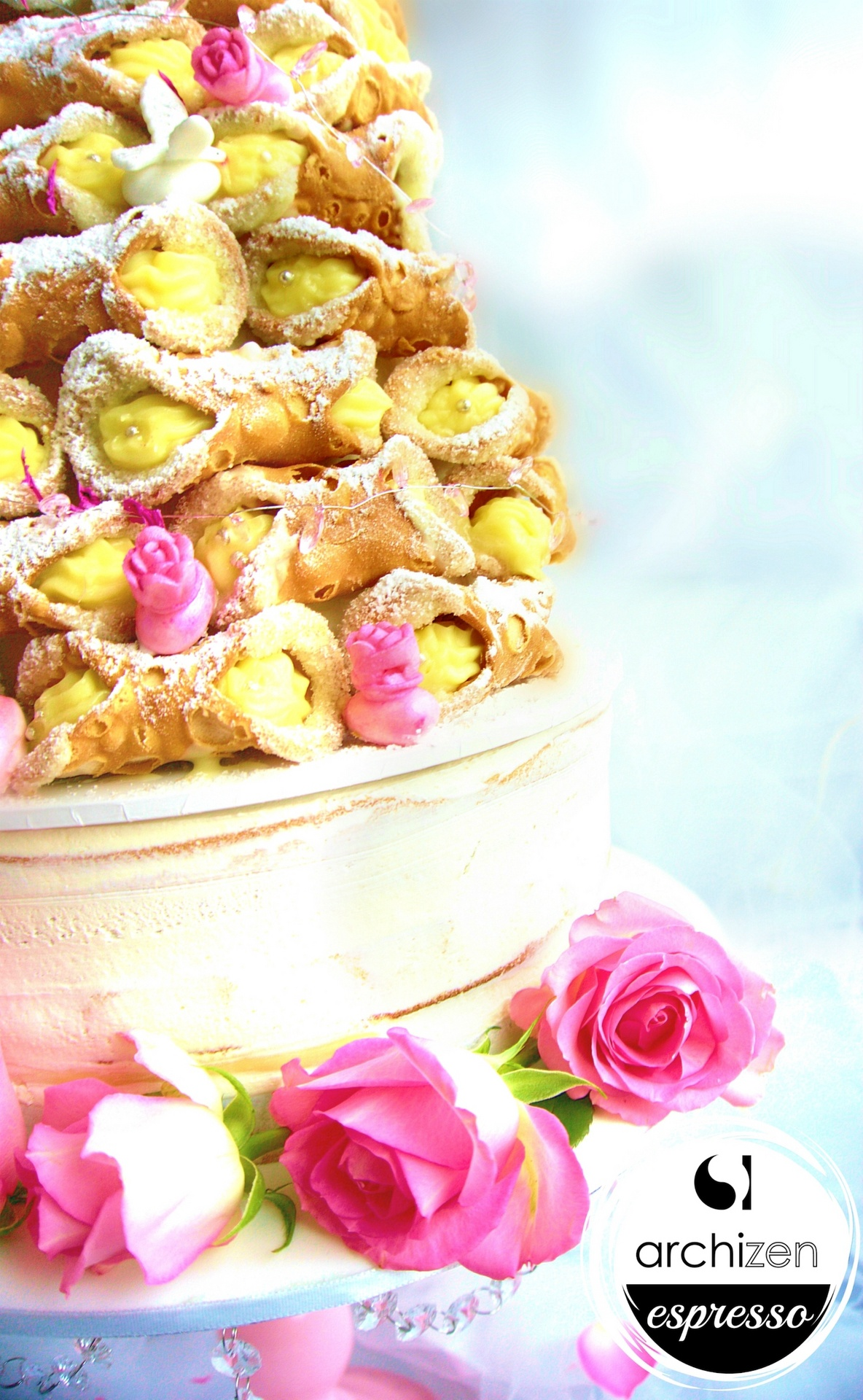 Custom Cannoli Tower - Pink