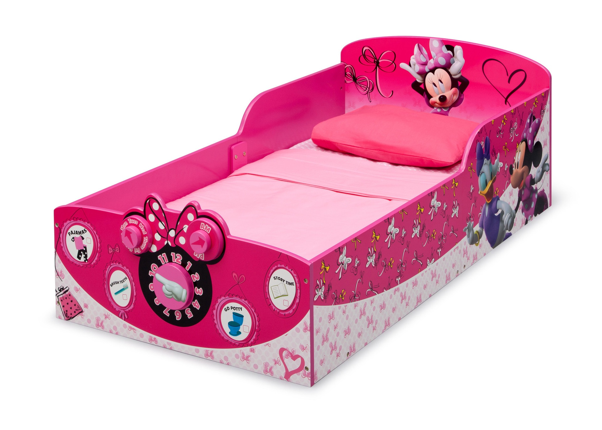 MINNIE MOUSE WOODEN TODDLER BED
