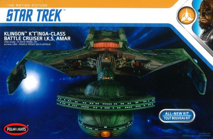 Polar Lights #0950 1/350 Star Trek Klingon Battle Cruiser