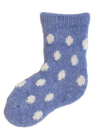 LISA B. - BABY WOOL+CASHMERE DOT SOCKS DENIM