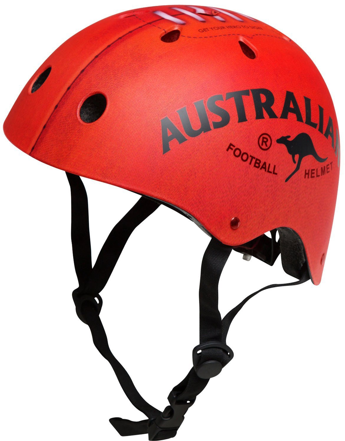Kiddimoto Helmet, Red Footy