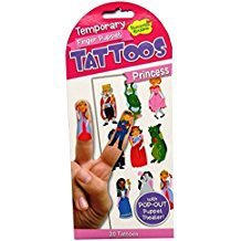 PRINCESS FINGER PUPPET TEMPORARY TATTOOS