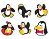 T 46068 PERKY PENGUINS MINI STICKERS