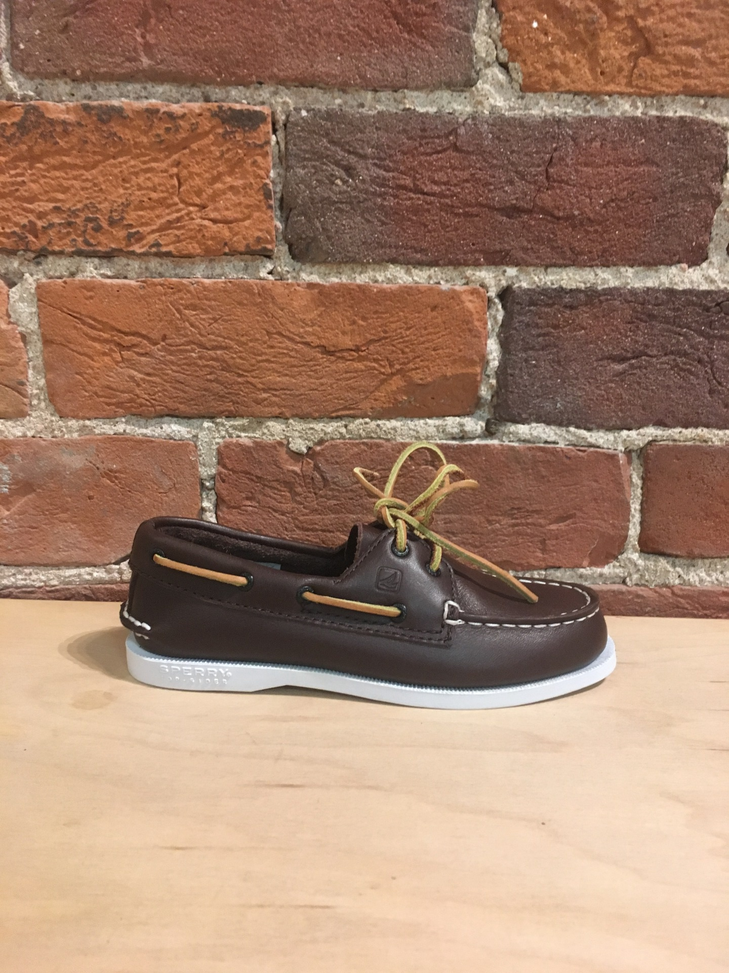 SPERRY - KIDS A/O BROWN LEATHER