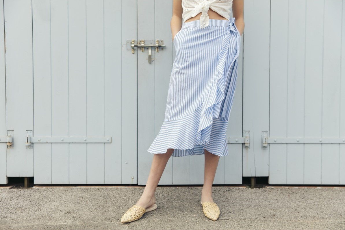 Grace & Mila Prune Frill Skirt