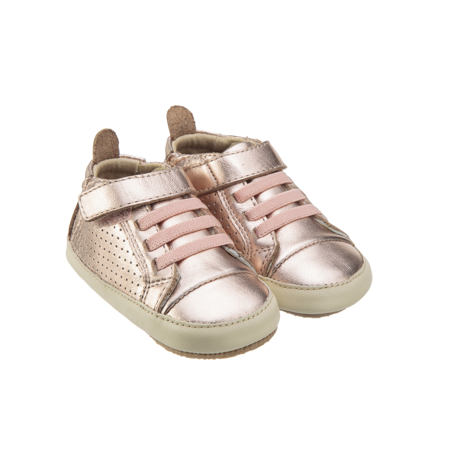 Old Soles Cheer Bambini Copper Champagne Rubber Sole