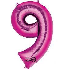 NUMBER 9 PINK 34''