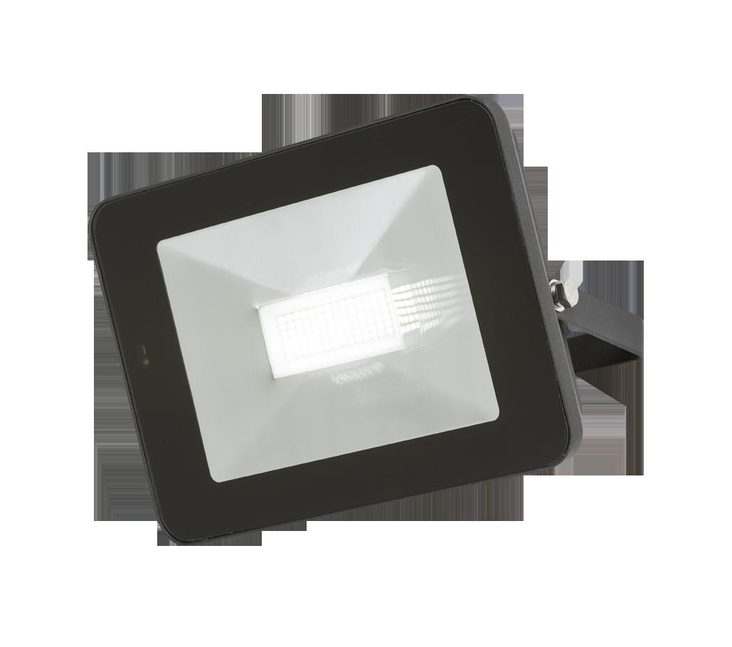 230V IP65 50W LED Black Die-Cast Aluminium Floodlight with Microwave Sensor 4000K