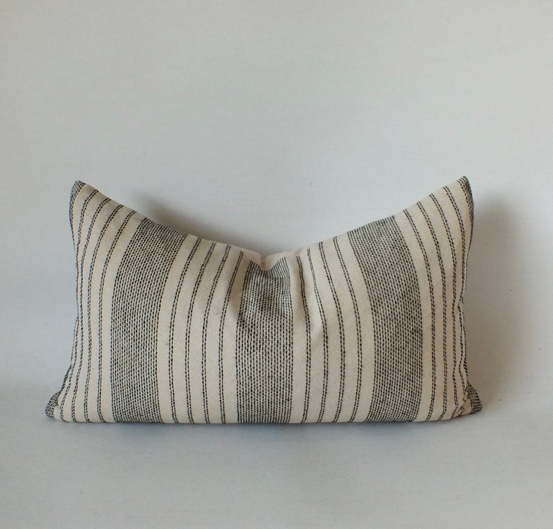 Sashimi Black & Cream Lumbar Pillow