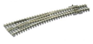 Peco #SL-E387 N Gauge Electrofrog Curved Left Hand Turnout
