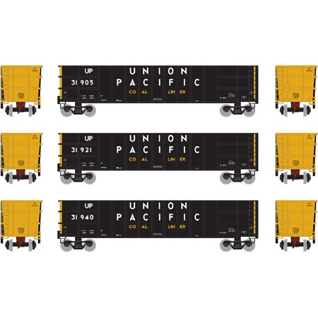 Athearn #ATH27148 50' Thrall High Sided Coal Gondola (3Pack)